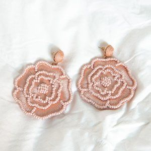BaubleBar Pink Flower Statement Earrings